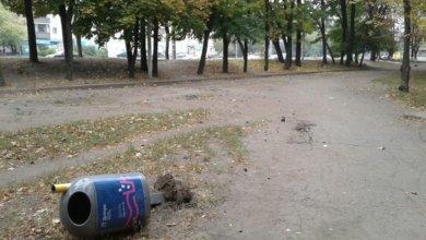 Photo of В Днепре хулиганы вырвали урны в парке Хмельницкого