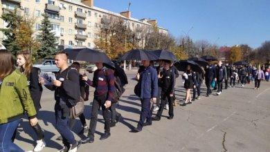 Photo of По улицам Павлограда прошлись люди в чёрном
