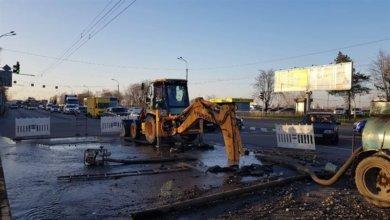 Photo of В Днепре на Набережной Заводской произошёл прорыв водопровода