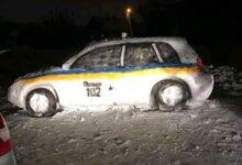 Photo of Жители Днепра слепили из снега патрульный автомобиль